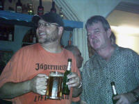 The drunkards - Ray and Michael at Maria's Taverna Minden Germany