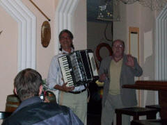 Chassim the great gypsy accordion player at Maria's Taverna in Minden Germany
