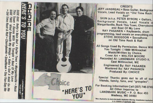 Photo of Choice tape cover - 1989 AD