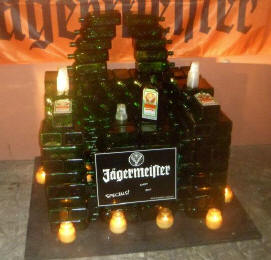 The Jaegermeister Chair - built by Chris Warburton at The Swizzle Inn in Bermuda.