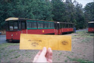 Ticket for tram tour of the forest.