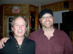 Ray and Phil Groves in Pam and Ivy's in East Millinocket Maine USA