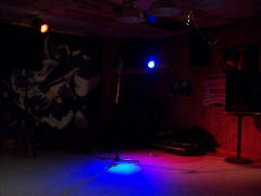 My stage at Al's Bar in Medway Maine USA