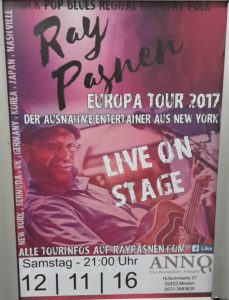 Ray Pasnen - Live at ANNO 12.11.2016 - 20:30 Uhr!