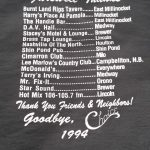 Close up of the Back of a Choice Farewell T-Shirt - 1994.