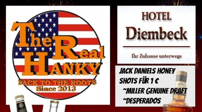 Come enjoy some great American atmosphere, food and music - Friday night at Hanky Panky in Bielefeld! Show starts at 8 pm! Please make a reservation!
